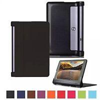 TabletHutBox Slim Folio Book Case Cover for Lenovo Yoga Tab3 Plus YT3-X703F