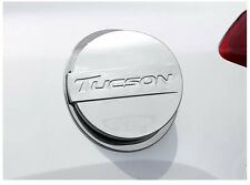 Fuel Oil Tank Gas Cap Cover Trim fit for 2016-2017 Hyundai Tucson Silver Words