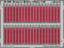 Eduard 1/48 Remove Before Flight Tags 49009