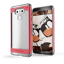 LG G6 Case, Ghostek Cloak 2 Series Clear TPU Aluminum Hybrid Impact Armor Cover