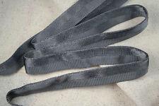 "2 yards 3/4"" grey vtg tubular rayon grosgrain satin ribbon dress straps"