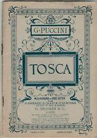 Puccini Tosca Copyright Jahr 1899 Sardou Illica Giacosa G. Ricordi Leipzig