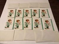 10 Cards / 9 Envelopes Vintage New Hallmark Noel Christmas Cards