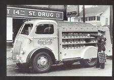 REAL PHOTO 1948 COE COCA COLA DELIVERY TRUCK ADVERTISING POSTCARD COPY