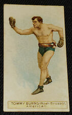 1909-1912 - TOMMY BURNS - SCISSORS CIGARETTES - BOXING - CARD