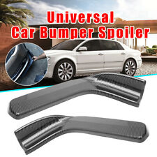 2x Carbon Fiber Style Winglet Type Car Front Bumper Lip Diffuser Splitter
