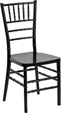 10 PACK Black Resin Stackable Chiavari Chair FREE Black Vinyl Seat Cushions