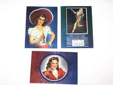 1995 PEPSI-COLA SERIES 2 Dart Glamour Girls Foil INSERT 3 CARD SET! COKE! SODA!