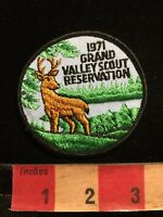 Vtg 1971 GRAND VALLEY SCOUT RESERVATION Buck Deer BSA Boy Scouts Patch 86I5