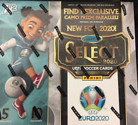 2020 Panini Select UEFA EURO Soccer Hybrid Hobby Box NEW & SEALED