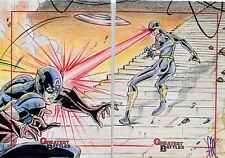Marvel Greatest Battles Panel Sketch Card By Mark Morales Captain America & Cyc