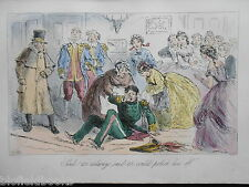 Hand Coloured Victorian Costume/Dress Party Print - c1880 (Mr Romford's Hounds)