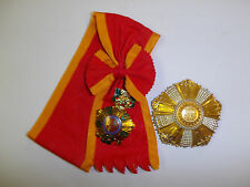 0373 RVN National order of Vietnam Sash 1st First class Grand Cross set IR5A