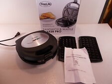 Fine Life Products Professional Sandwich & Waffle Maker 700w 2 Set Of Plates