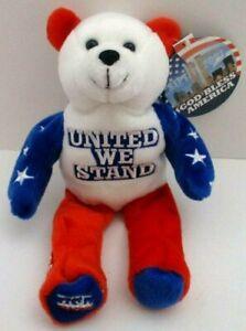 God Bless America / United We Stand / September 11 2001 Dream Co. Bear Plush