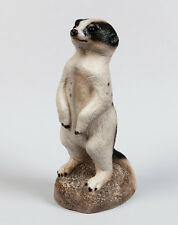 "WINDSTONE EDITIONS ""BLACK & WHITE"" SPOTTED BABY MEERKAT FIGURINE, STATUE"