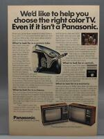 Vintage Magazine Ad Print Design Advertising Panasonic Color Television