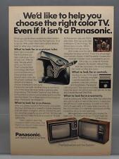 Vintage Magazine Ad Print Design Advertising Panasonic Color Television