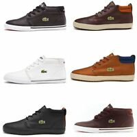Lacoste Ampthill High Leather Trainers in Black & White 731SPM0098