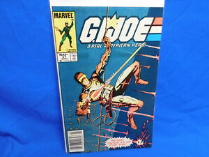 Marvel GI Joe #21 1st Print Newsstand First Appearance Storm Shadow Silent Issue