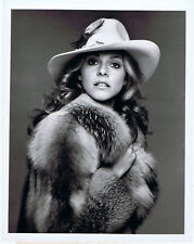 """ABC Press Photo 9"""" x 7"""" Black and White THE BIONIC WOMAN Lindsay Wagner 1976"""