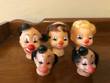 CLOWN DOLL HEADS - PUPPET TOY