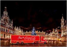 Coca Cola Truck Christmas Lights Large Poster Art Print A0 A1 A2 A3 A4 Maxi