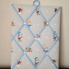 Hand Made Fabric Notice Board In Sophie Allport Alice In Wonderland Fabric