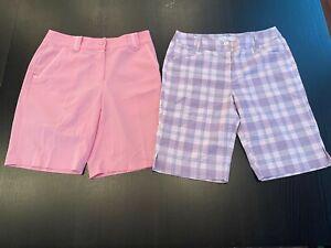 Women's Size 6 EP Pro & Callaway Performance Golf Shorts Pink & Lavender Purple