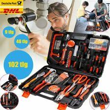 46/102 tlg Werkzeugkoffer mit Werkzeug Set Werkzeugkasten Werkzeugkiste Hammer