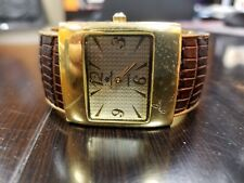 Premier Designs Female watch - gold face/ brown leather band