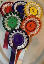 1st to 6th 2 tier rosettes Large 68mm Centres  *FREE POSTAGE*