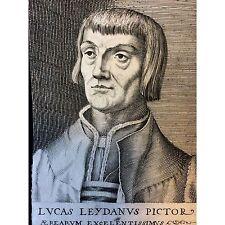 Portrait de Lucas van Leyden gravé par Hendrik Hondius I 1573 1649 NEDERLAND
