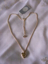 Necklace Pendant Gold Tone Cd Logo Vtg & Nwt Christian Dior Sparkling Rhinestone