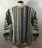 P17 Mens Vintage Idea Uomo Sweater Sz Medium Cosby Coogi Like Knit