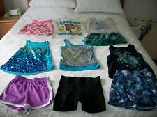Huge 10 Piece Girls Justice Summer Lot Size 7 8 Shirts Shorts Skirts
