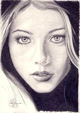 Arte Original. Michelle Trachtenberg Retrato. (Buffy) por Simon campo.