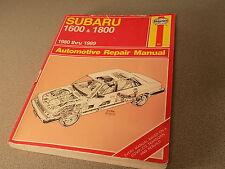 Haynes Automotive Repair Manual - Subaru 1600 & 1800 - 1980 thru 1988 Paperback