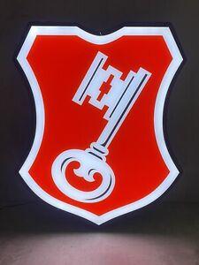 Seltene Becks Emblem Leuchtreklame Neon Bier Reklame Werbe Lampe
