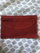"Authentic CARTIER Red SUEDE POUCH  6"" X 4"" PreOwned UnUsed Excellent Condition"