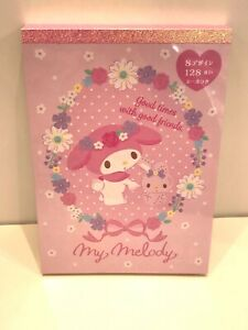 Sanrio Original My Melody Character Memo With Stickers. Authentic