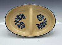 """PFALTZGRAFF Folk Art Divided Dish Casserole Oval 12 3/4"""""""