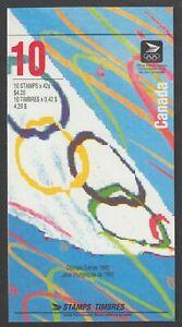 BOOKLET BK146a, SUMMER OLYMPICS, 1414-1418, OPEN TYPE, WHITE ON LEFT