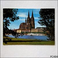 Cologne on the Rhine view of the cathedral from the Rheinpark Postcard (P484)