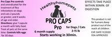 Pro Caps Flea Control Killer for Dogs Cats 2-15 lb 6 month prevention kills eggs