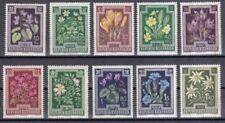 Österreichische Briefmarken (ab 1945) mit Blumen-Motiv als Satz