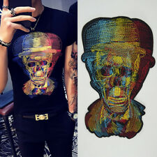 """Big Skull Embroidered Patches Sew-on Clothing Jeans Punk Character Applique 11"""""""