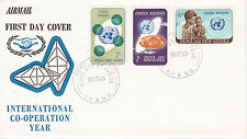 Papua New Guinea First Day Cover 1965 U.N. Int. Co-Operation Year Scott #206-208
