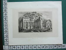 1830 datato antico Yorkshire stampa ~ EGGLESTON Abbey ROVINE