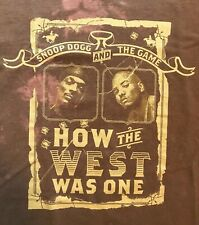 Snoop Dogg and The Game How The West Was One 2005 Concert Tour Rap Hip Hop Sz L